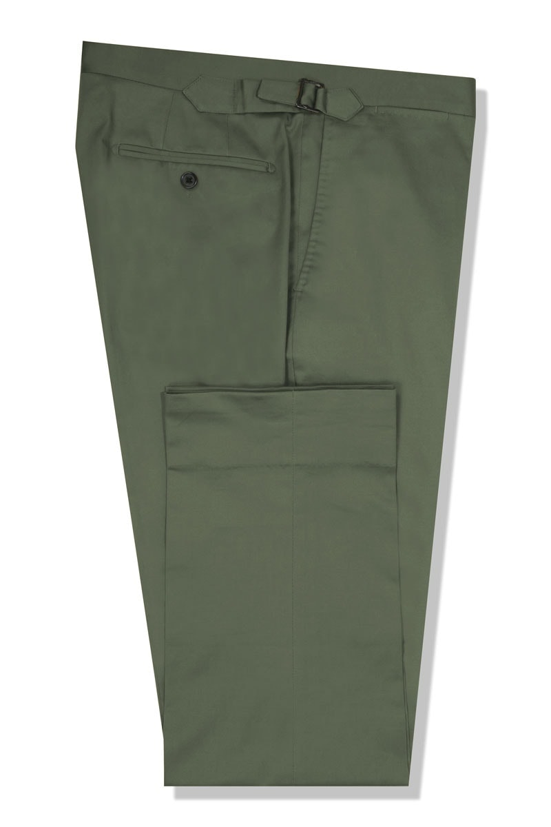 InStitchu Collection The Alberta Olive Green Cotton Chinos