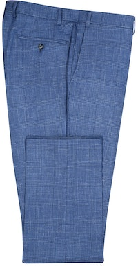 InStitchu Collection The Avington Mid-Blue Prince of Wales Wool Pants