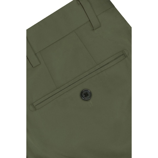 InStitchu Collection The Baulmer Olive Green Cotton Chinos