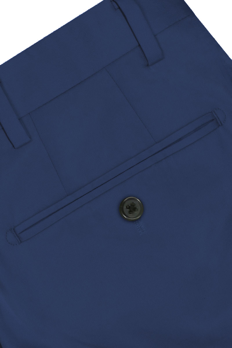 InStitchu Collection The Brody Royal Blue Cotton Chinos