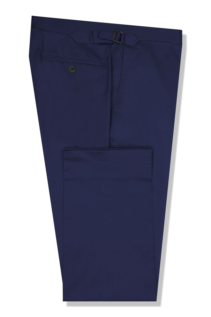 InStitchu Collection The Bronson Dark Blue Cotton Chinos