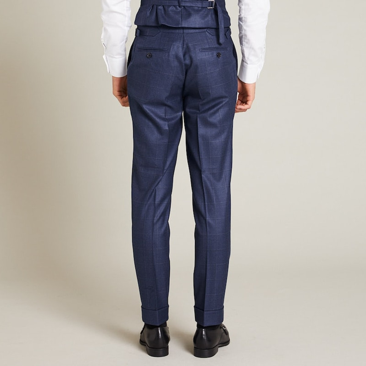 InStitchu Collection The Casey Navy Windowpane Pants