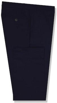 InStitchu Collection The Derrida Navy Cotton Stretch Chinos