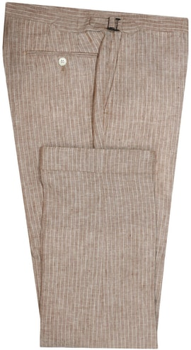 InStitchu Collection The Gatsby Beige Linen Pants