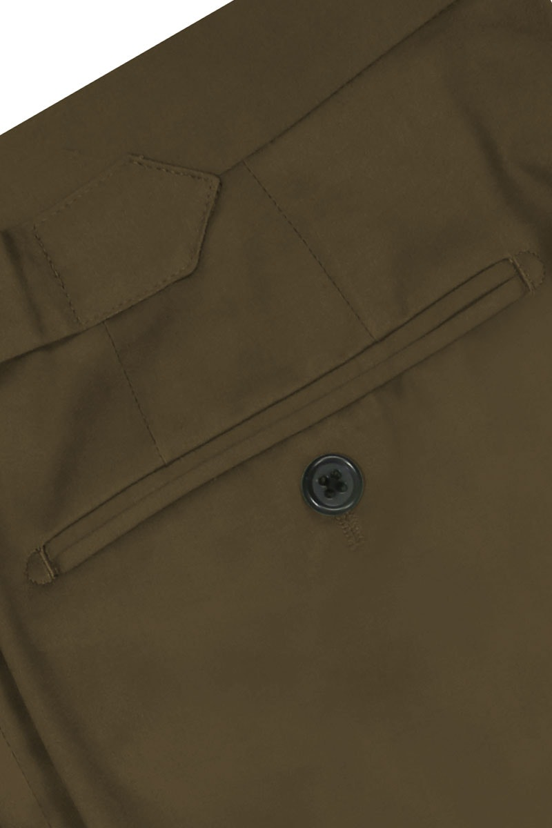 InStitchu Collection The Georges Dark Khaki Cotton Chinos