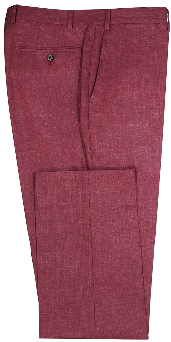 InStitchu Collection The Kinchega Light Maroon Slub Wool Pants