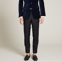 InStitchu Collection The Lapo Black Wool And Satin Tuxedo Pants