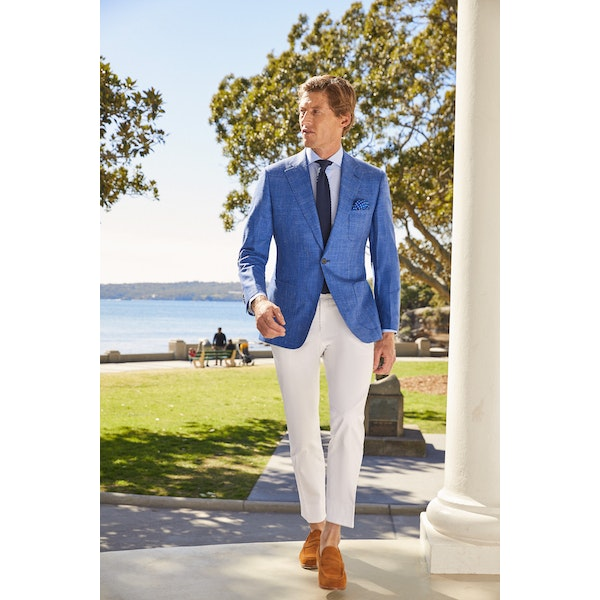 InStitchu Collection The Macleay White Cotton Stretch Chinos