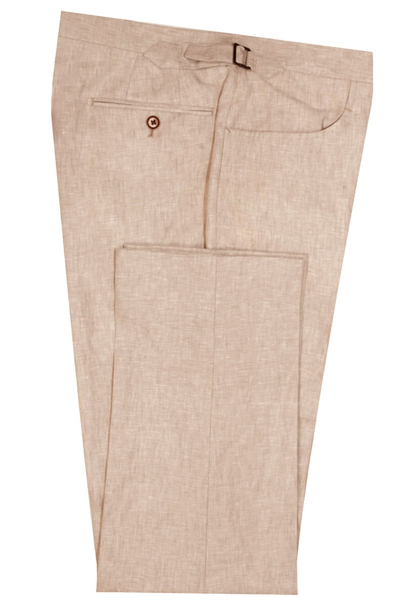 InStitchu Collection The Madison Beige Linen Pants