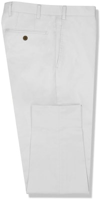 InStitchu Collection The Martinez White Cotton Stretch Chinos