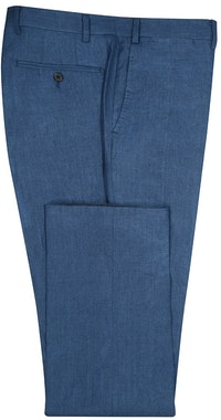 InStitchu Collection The Montauk Navy Linen Silk Pants
