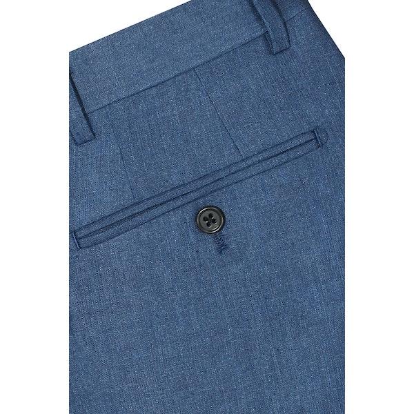 InStitchu Collection The Montauk Navy Linen Silk Pants