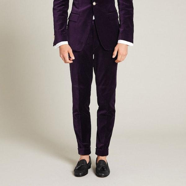 InStitchu Collection The Napier Purple Velvet Pants