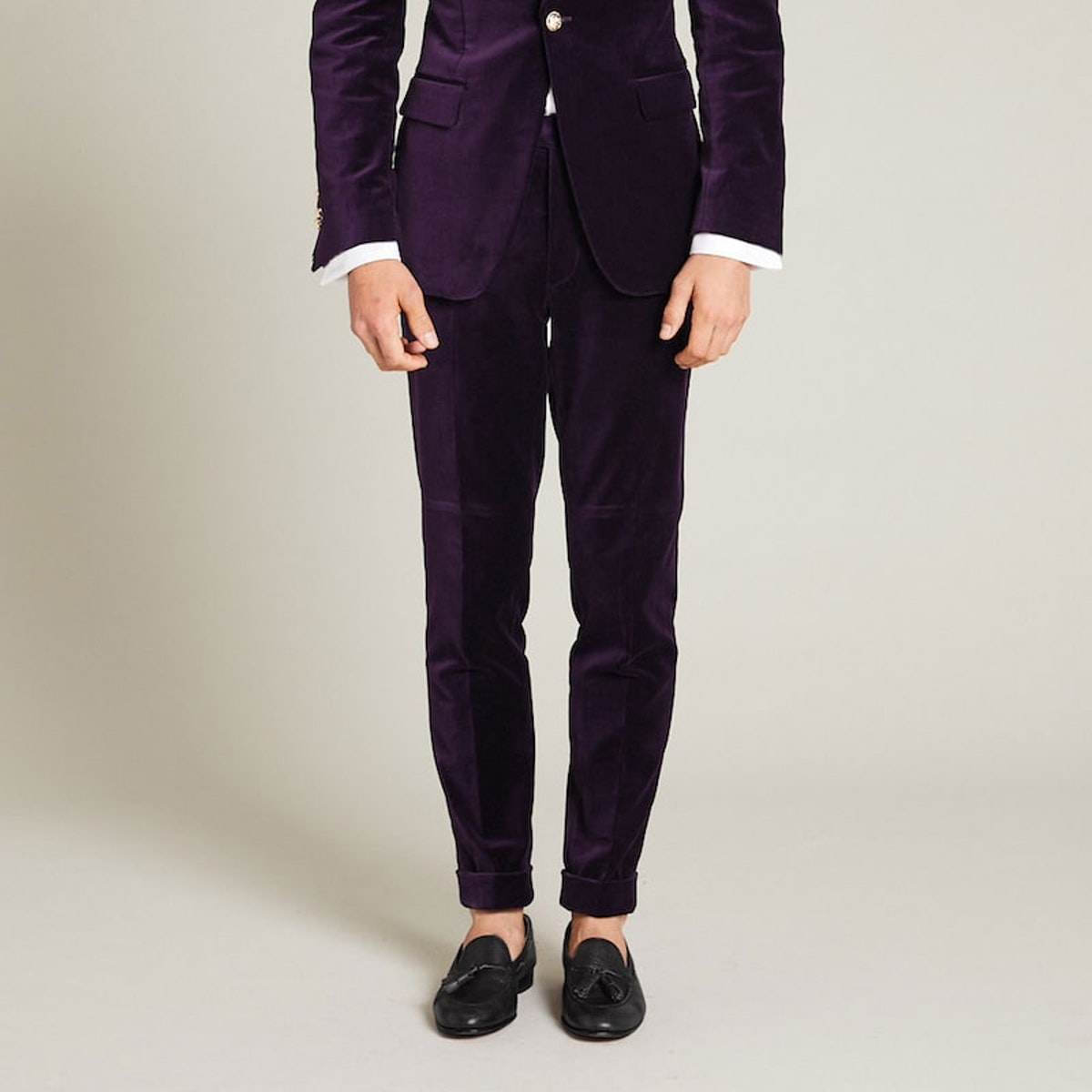 InStitchu Collection The Napier Purple Velvet Pants
