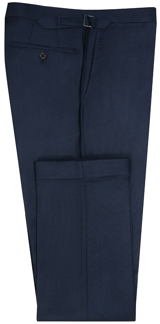 InStitchu Collection The Parkdale Solid Navy Blue Wool Pants