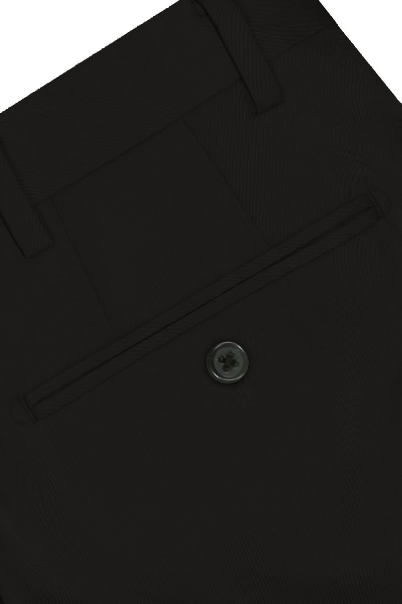 InStitchu Collection The Parkes Black Cotton Chinos