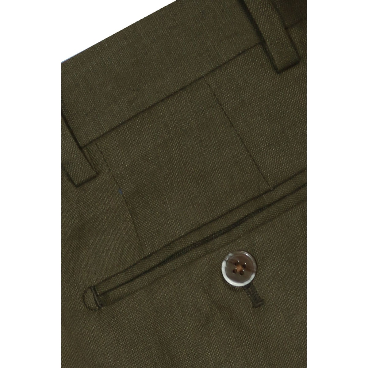 InStitchu Collection The Ricci Olive Green Linen Pants