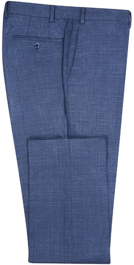 InStitchu Collection The Rocklyn Deep Sea Blue Twill Wool Pants