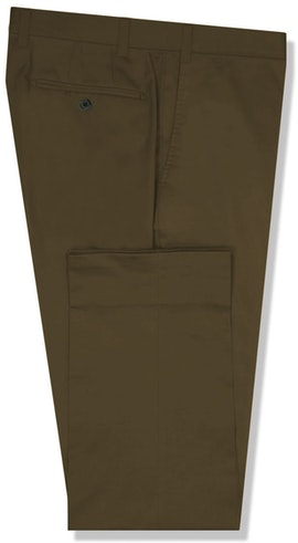 InStitchu Collection The Sartre Dark Khaki Cotton Chinos