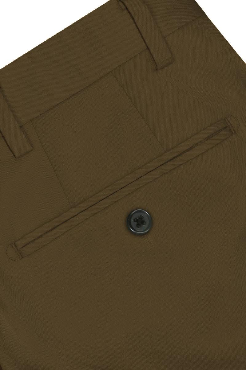 InStitchu Collection The Sartre Dark Khaki Cotton Chinos