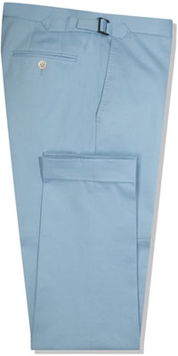InStitchu Collection The Sinatra Light Blue Cotton Pants