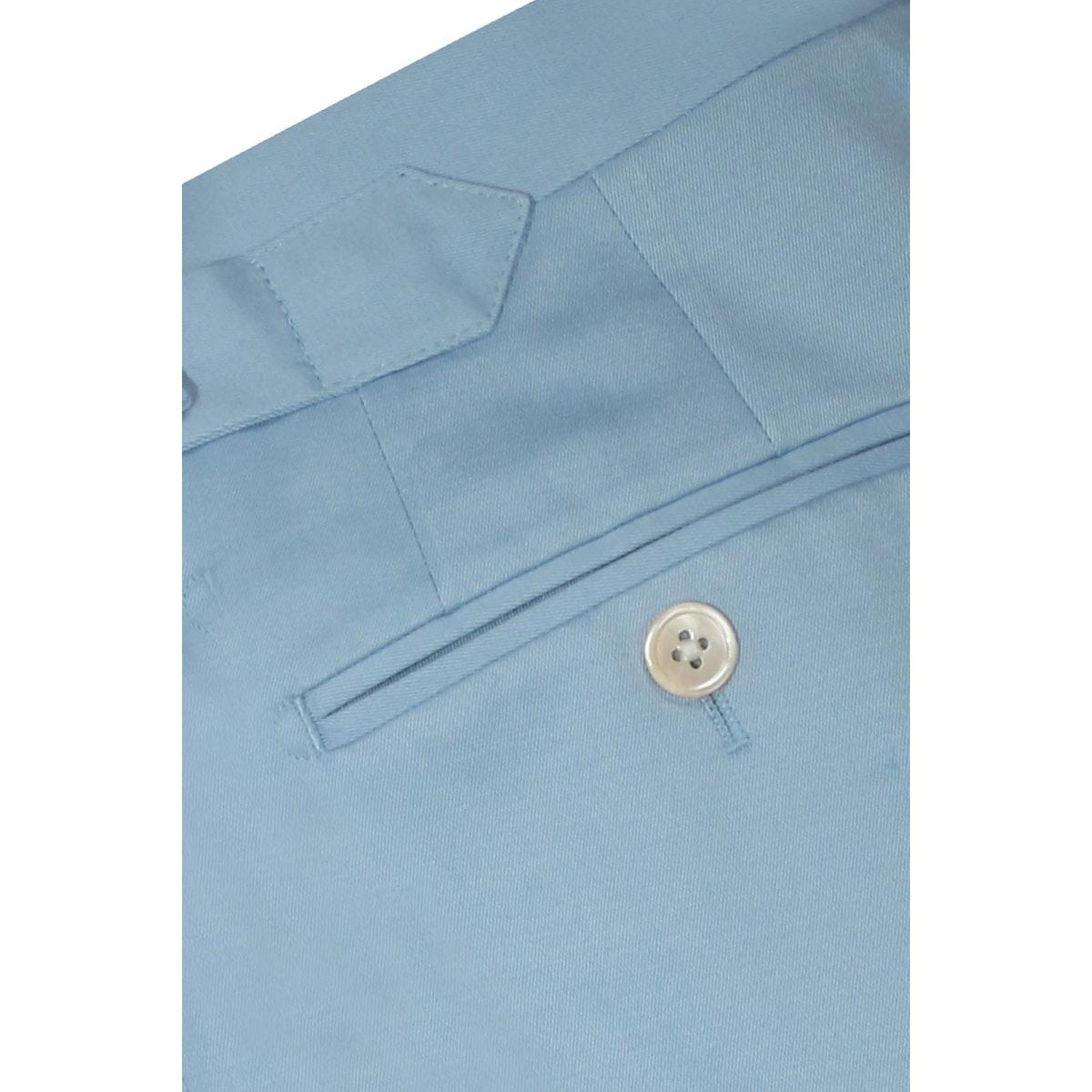 InStitchu Collection The Sinatra Light Blue Cotton Pants