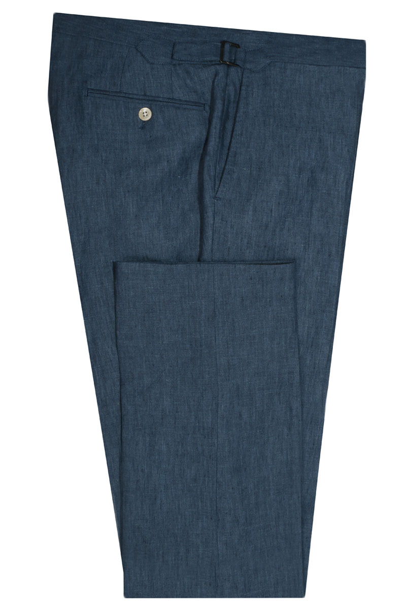 InStitchu Collection The Tompkins Blue Linen Pants