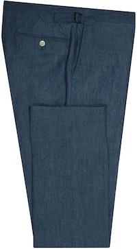 InStitchu Collection The Tompkins Blue Linen Pants