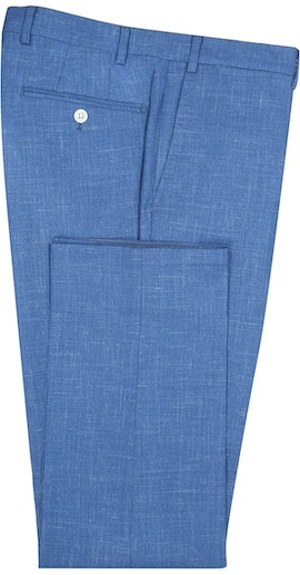 InStitchu Collection The Wattle Mid-Blue White Slub Wool Pants