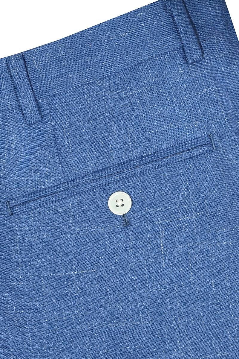 InStitchu Collection The Wattle Mid-Blue White Slub Wool Pants