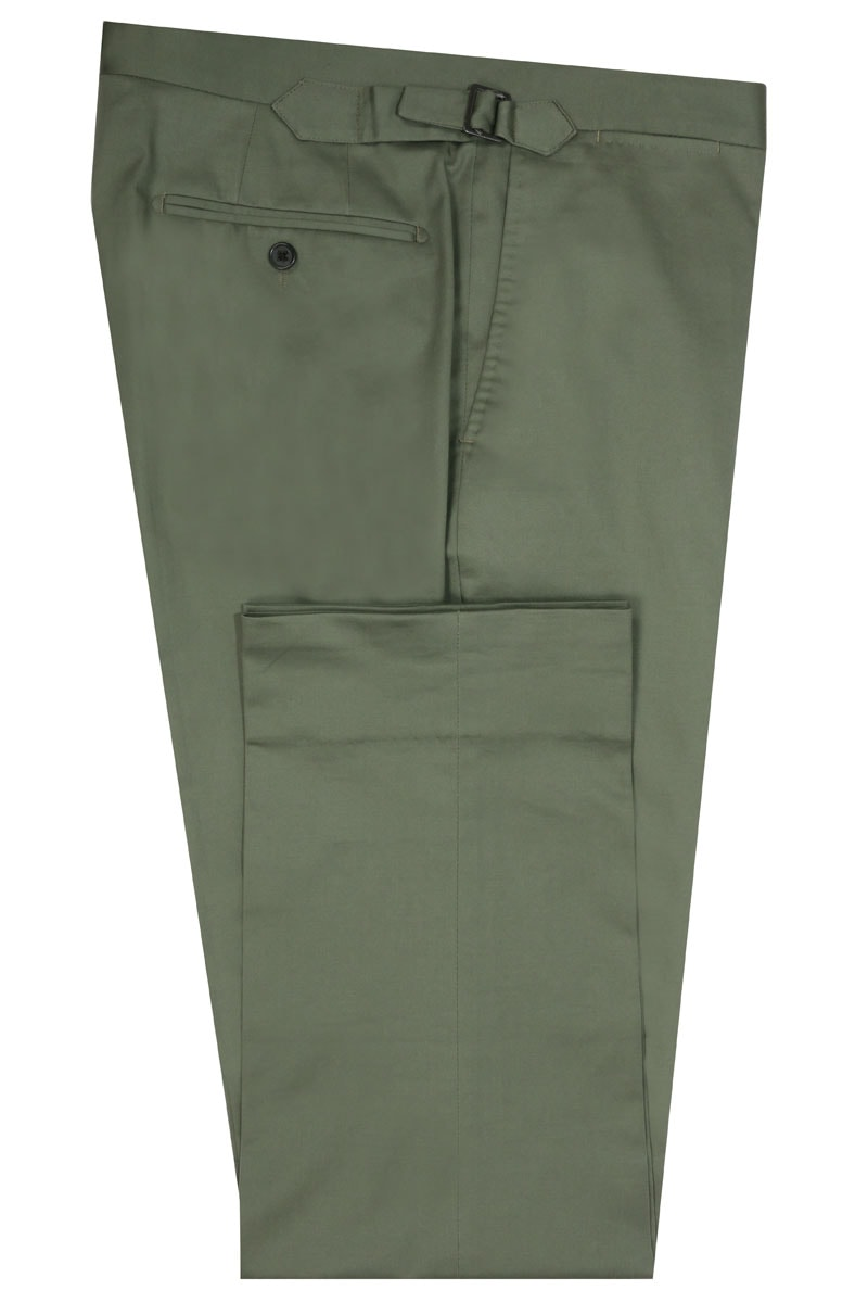 InStitchu Collection The West Olive Green Cotton Stretch Pants