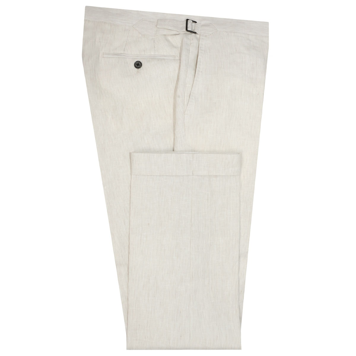 InStitchu Collection The Wolfsheim Cream Striped Linen Pants