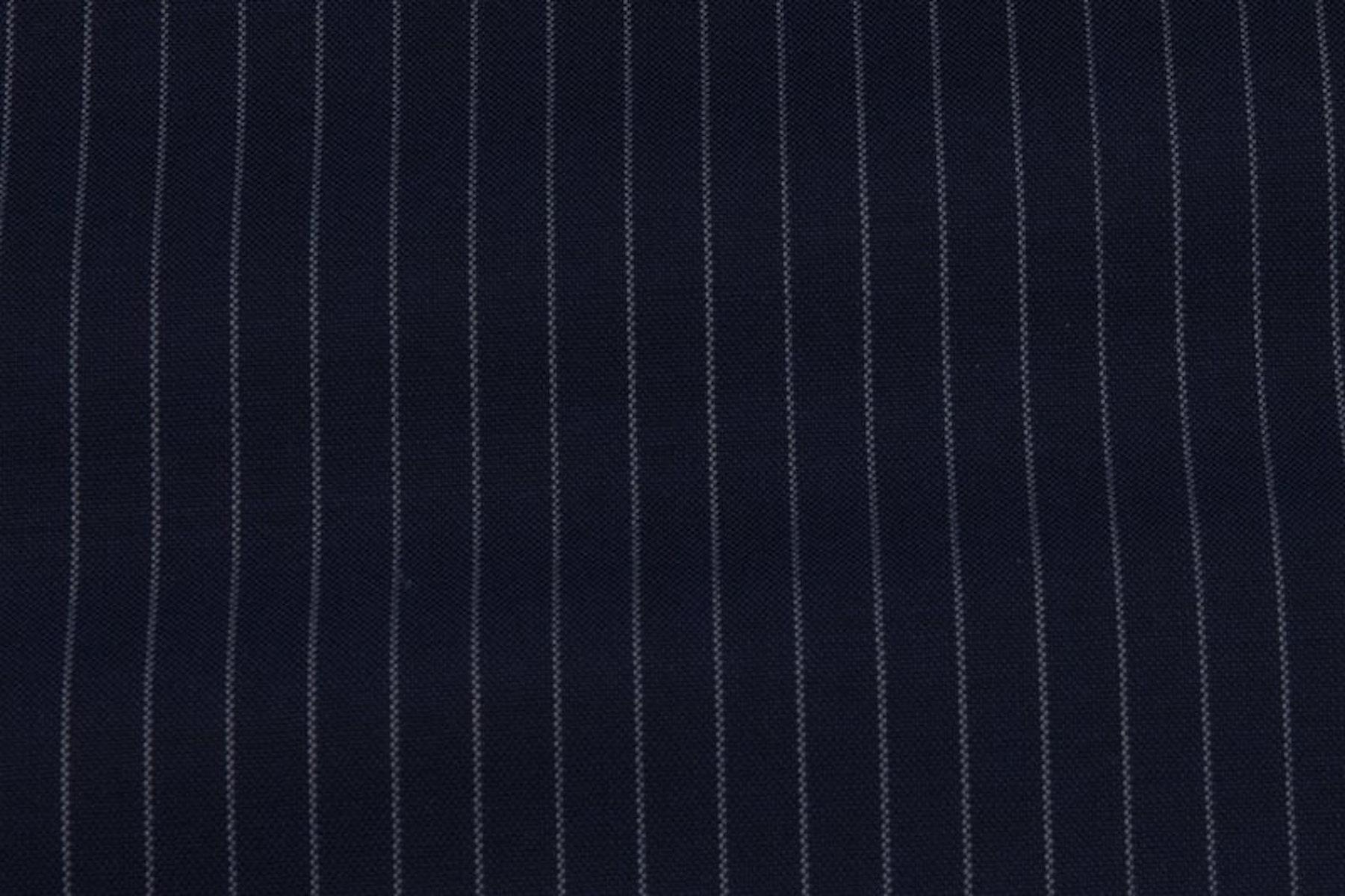 InStitchu Collection Tillington Navy Chalkstripe Wool Pants