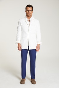 InStitchu Collection The Atacama White Linen Safari Jacket