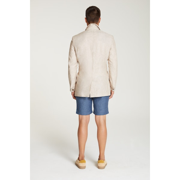 InStitchu Collection The Kalahari Beige Linen Safari Jacket