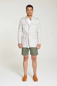 InStitchu Collection The Namib Pale Grey Linen Safari Jacket