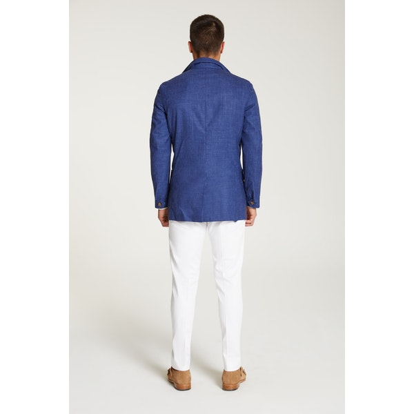 InStitchu Collection The Patagonia Royal Blue Wool Blend Safari Jacket