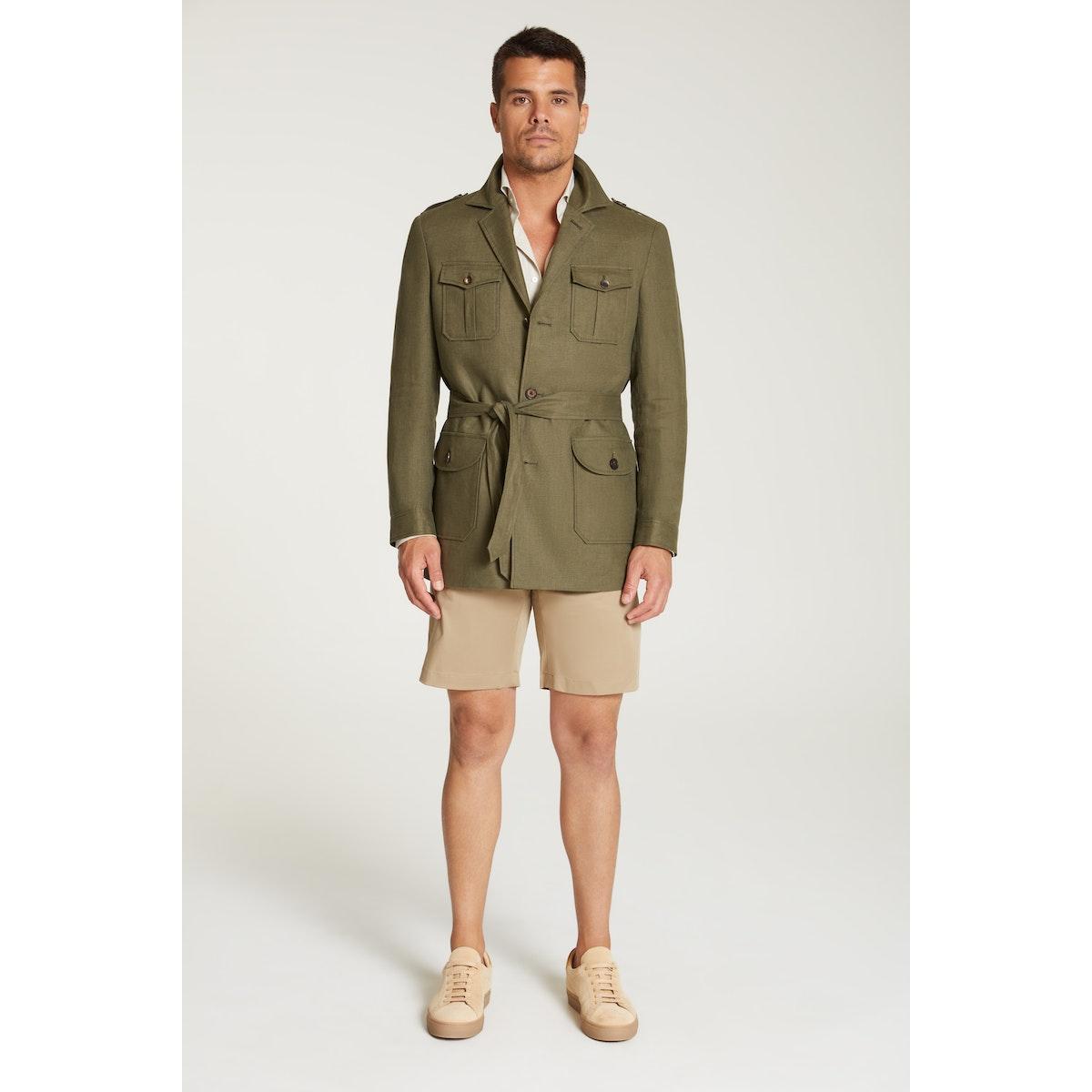 InStitchu Collection The Sahara Kahki Linen Safari Jacket