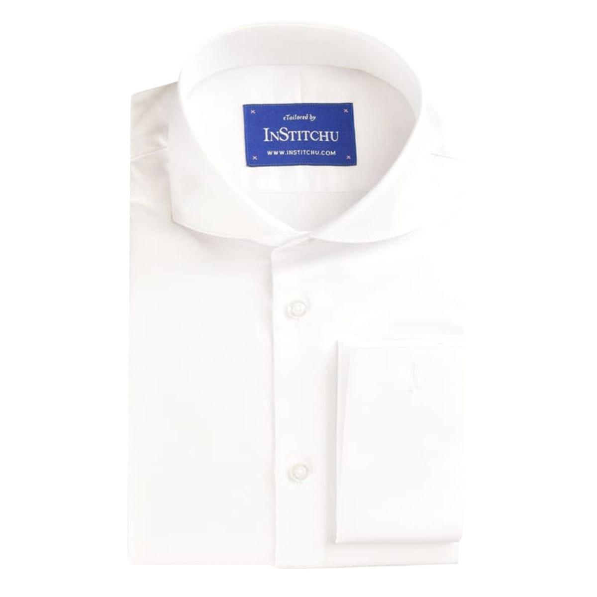 InStitchu Collection Pinnacle White Herringbone Cotton