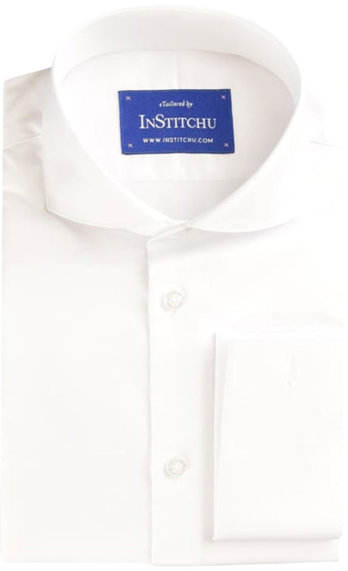 InStitchu Collection Pinnacle White Herringbone Cotton
