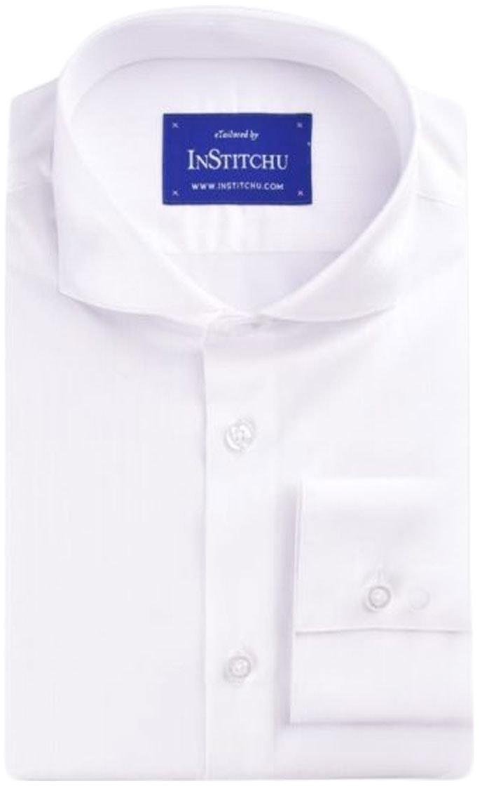 InStitchu Collection White Stripes Easy Iron Cotton