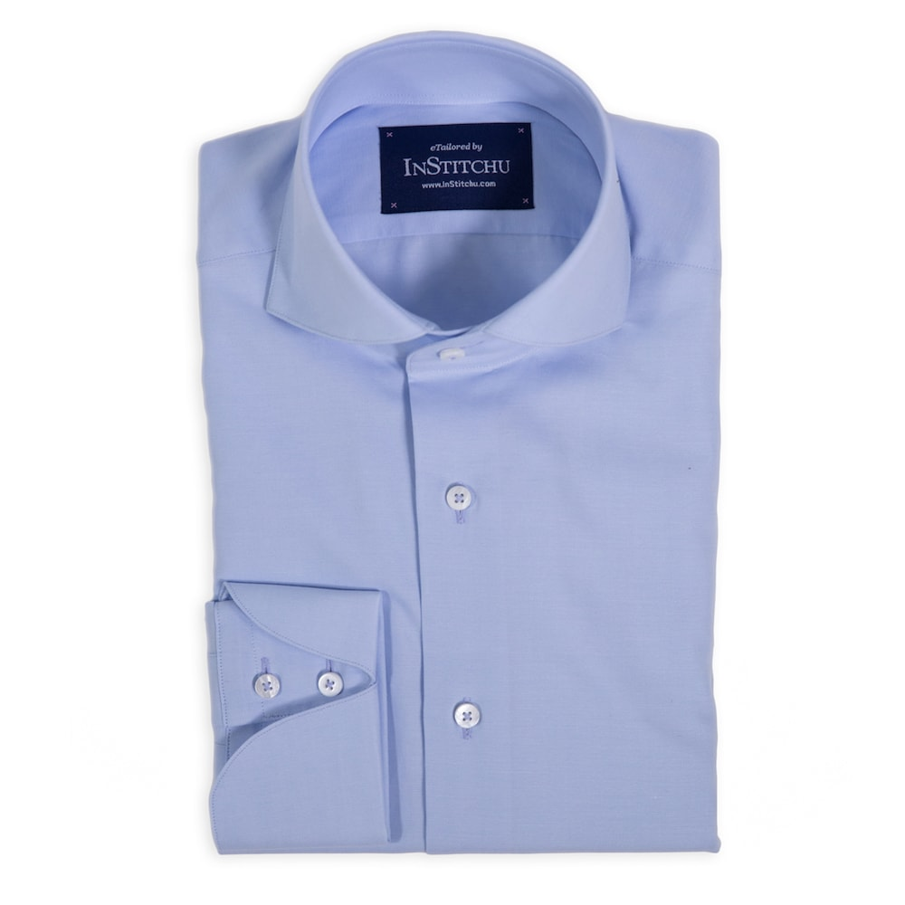 Powder Blue Cutaway Shirt