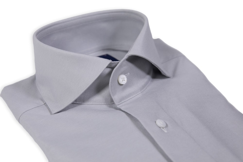 Light Grey Oxford Cutaway Shirt