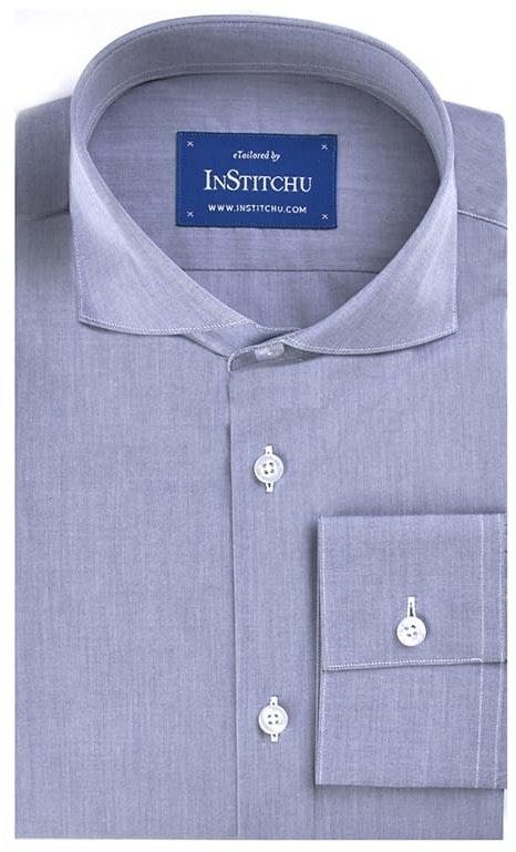 InStitchu Collection Dark Blue Summer Chambray Cotton