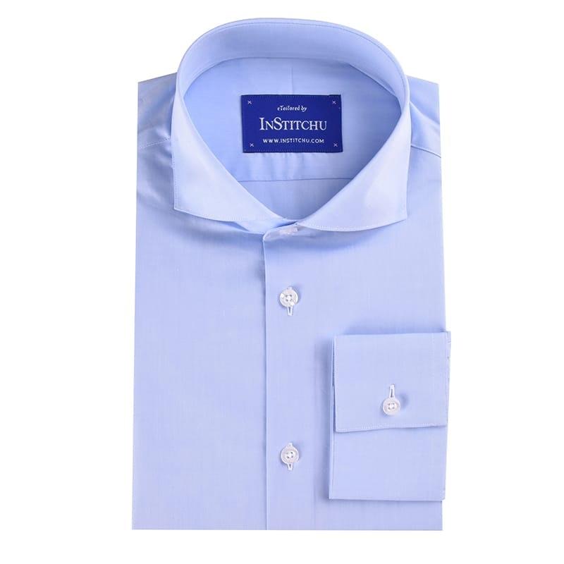 Light Blue Summer Chambray Cotton shirt