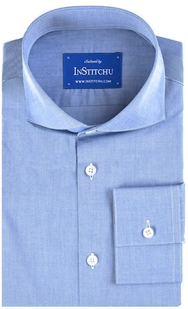 InStitchu Collection Medium Blue Summer Chambray Cotton