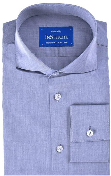 InStitchu Collection Royal Blue Summer Chambray Cotton