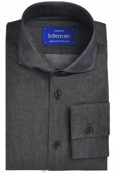 InStitchu Collection Black Chambray Cotton