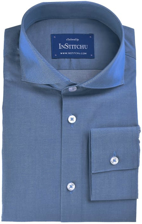 InStitchu Collection Blue Chambray Cotton