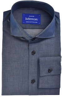 InStitchu Collection Navy Chambray Cotton